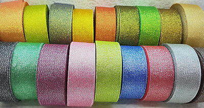 2mtrs, 30mtrs or 90mtrs GLITTER RIBBONS 3mm, 6mm, 12mm, 25mm, 38mm, 50mm