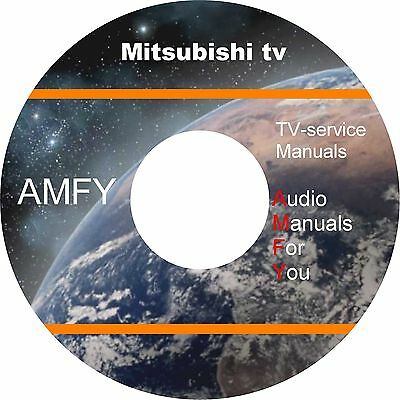 Mitsubishi TV service manuals and schematics on DVD, all files in pdf format