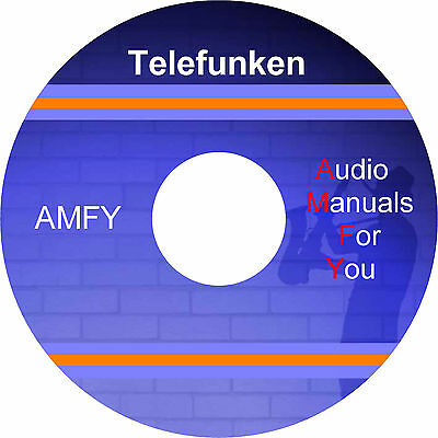 Telefunken service manuals, owners manuals and schematics on dvd, all PDF format