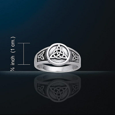 Celtic Knotwork Triquetra Ring  Charmed Symbol Trinity Knot Signet