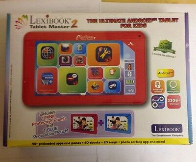 "Lexibook 7"" Tablet Master 2 with Protective Pouch Blue /  Brand New"