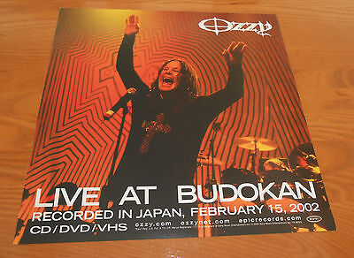 Ozzy Osbourne Live at Budokan Poster Double Sided Flat Square Promo 12x12