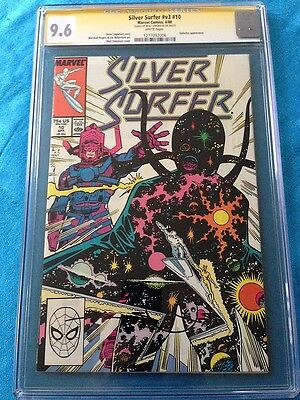 Silver Surfer v3 #10 - Marvel - CGC SS 9.6 NM+ Signed by W Simonson
