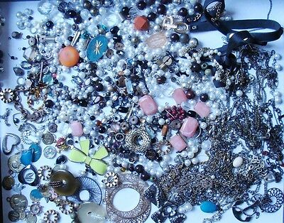 Crafters Jewelry Lot for Repair or Design - Over 2 Lbs  (Lot2)