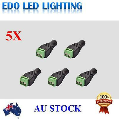 5 Female AC/DC Jack Plug Led Connector Adapter for Led Strip Light 5.5x2.1mm