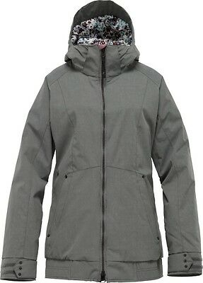 Burton The White Collection HOT TOTTIE Jacket Flint Grey Sizes Med-Lge-XLge