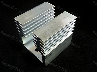 44mm X 45mm X 45.5mm Aluminum Heat Sink For IC SSR Transistor LED TO-3 Package