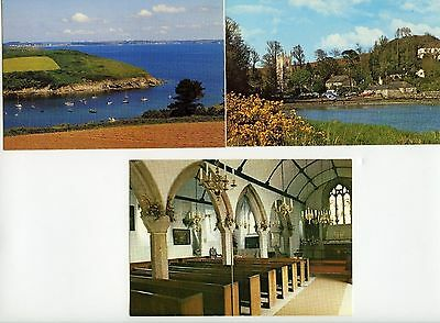 3  Postcards ST. ANTHONY in MENEAGE Cornwall Excellent Condition