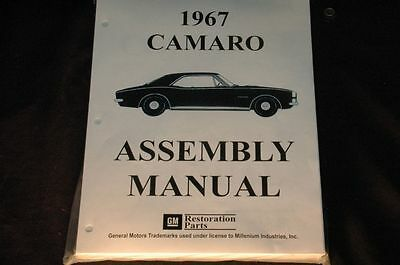1967 Camaro  Assembly Manual 100's Of Pages Of Pictures, Part Numbers & Details