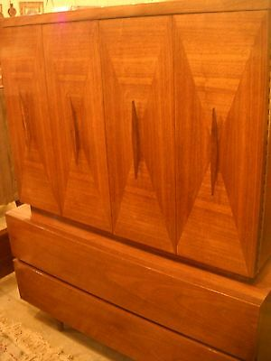 Vintage Mid Century Danish Bedroom Suit Set AMERICAN OF MARTINSVILLE