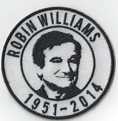 ROBIN WILLIAMS TRIBUTE IRON ON PATCH  buy 2 get another  free = 3 of these