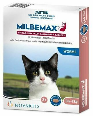 Milbemax All Wormer Beef-Flavoured Tablet for Cats & Kittens under 2kg - 2-Pack