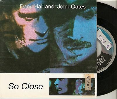 "DARYL HALL & JOHN OATES 7"" SPAIN 45 SO CLOSE + SO CLOSE UNPLUGGED 1990 Arista"