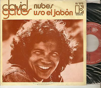 "DAVID GATES ( BREAD ) 7"" SPAIN 45 CLOUDS + I USE THE SOAP 1973 SOFT ROCK Raro !"