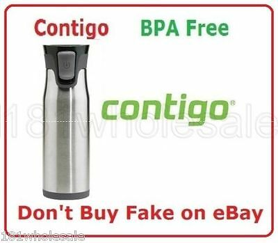 ❤ CONTIGO West Loop AutoSEAL Insulated Travel Mug Thermos Stainless 600ml 591ml