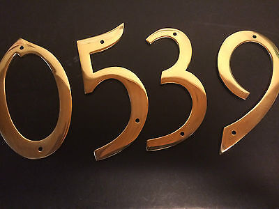 112mm 4.5  Brass House Door Numerals Number Numbers Sign Rare & 112MM 4.5