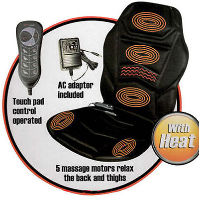 New Heated Back Seat Massage Cushion For Chair Car Massage Home Relax Van
