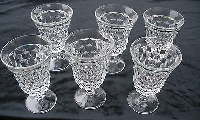 """Fostoria AMERICAN Six (6) Low Water Goblets 5-1/2""""  ALL MINT CONDITION"""