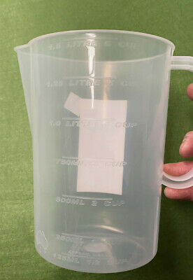 1x 1.5L Measuring Jug Graduated Plastic Clear Transparent Cup Quadrant Q112992