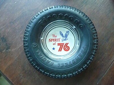 Vintage Firestone Transteel Radial Tire Ashtray