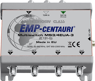 3x4 satellite multiswitch (multiswitch MS3/4EUA-3) - 4 YEAR WARRANTY, Made in EU