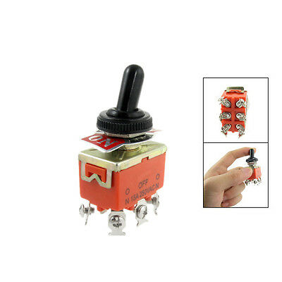 New 15A/250VAC on/off/on 3 Position DPDT Toggle Switch with Waterproof Boot SN