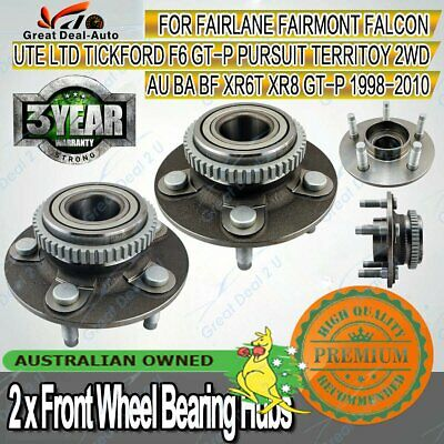 Front Wheel Bearing Hubs Ford Falcon Fairmont AU BA BF Territory Tickford 2WD
