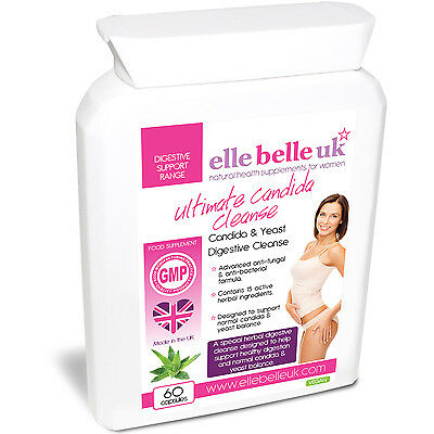 Ultimate Candida Cleanse - Elle Belle UK - Candida & Yeast Support - 60 Capsules