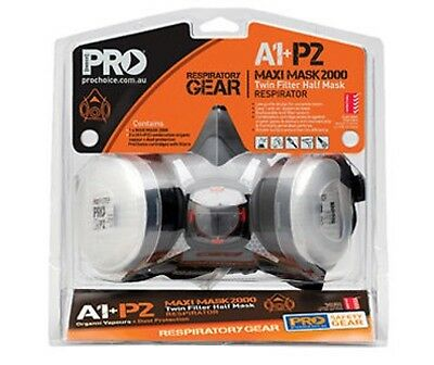 Pro Choice Half Mask A1P2 Respirator Breathing Protection Tradies & Painters Kit