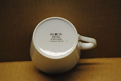 Replacement Fine China, Block Spal Portugal Lisboa White Tea or Coffee Cup
