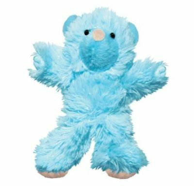 Kong Kitten Catnip Teddy Bear Toy- Soft Cuddly Fabric Plush Toy Blue Or Pink