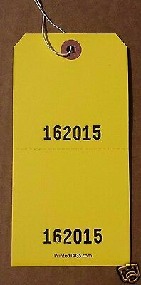 1,000 Numbered Perforated Claim Paper Hang Tags W/ Strings Sale Auction Label