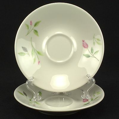 Iroquois Wild Rose 2 Saucers Flowers