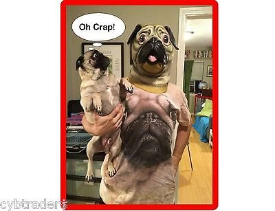 Funny Pug Dog Dad  Refrigerator / Tool Box / Locker /  Magnet Gift Card Insert
