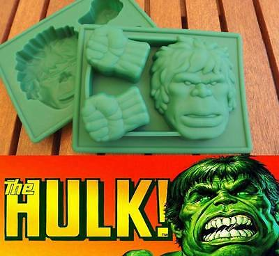 Incredible HULK Silicone Chocolate Mold Ice Tray Fondant Cake Topper Soap Jelly