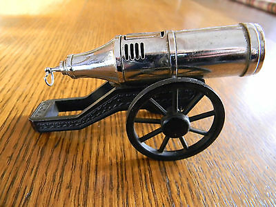 "Cannon Shaped Cigarette Lighter  - 5"" In Length Good Tight Spring"