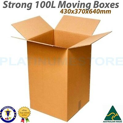 20 x 100L Tea Chest Cardboard Moving Boxes Removalist Packing Carton Box