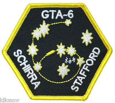 Gemini 6 Mission Embroidered Patch (Official Patch) 9cm x 8cm approx