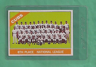 1966 Topps NL Cubs 8th Place # 204 NM-MT Low Pop Card !!!!