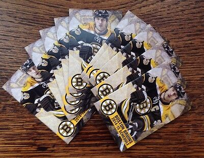 (10) 2014-15 BOSTON BRUINS NHL LOTTERY ZDENO CHARA Pocket Schedules