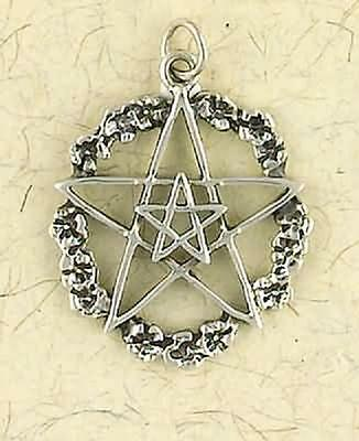Sterling Silver Double Pentacle Pendant