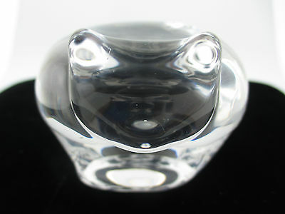Orrefors Sweden Crystal Cat Paper Weight w/ Original Tag.