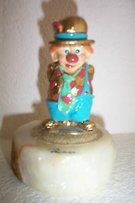 """RON LEE CLOWN HEART FIGURINE 4 1/2"""" From 1989"""