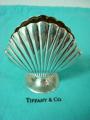 TIFFANY sterling silver ~ 1 LARGE SHELL CARD MENU HOLDER ~ RARE & SUPERB!