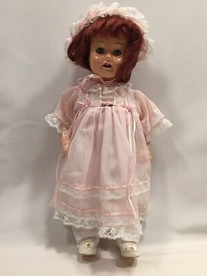 """EIH Horsman Doll 17"""" Tall 1991 Red Hair Painted Face"""