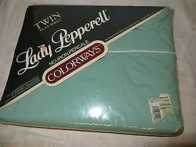 Lady Pepperell Colorways Twin Size Flat Sheet - Green - NEW IN PACKAGE - g