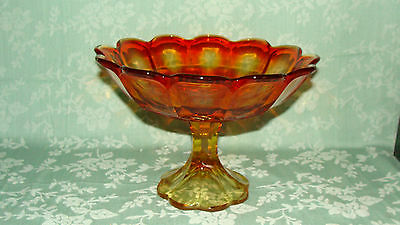AMBERINA FRUIT BOWL~ CONSOLE BOWL  ~COMPOTE