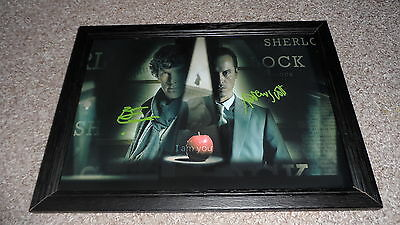 """Sherlock & Moriarty Pp Signed & Framed 12""""x8"""" A4 Poster Benedict Cumberbatch"""