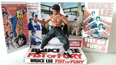 BRUCE LEE - FIST OF FURY / CHINESE CONNECTION Action Figure +Custom Display Base