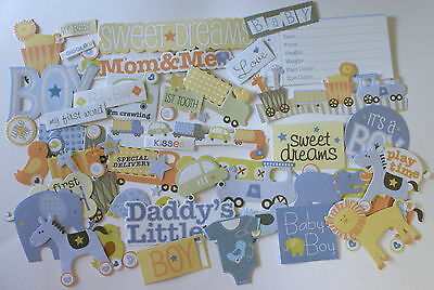NO 018 SCRAPBOOKING - 60 DIE CUT BABY BOY - Scrapbooking & Card Making
